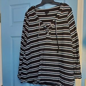 Torrid striped long sleeve top